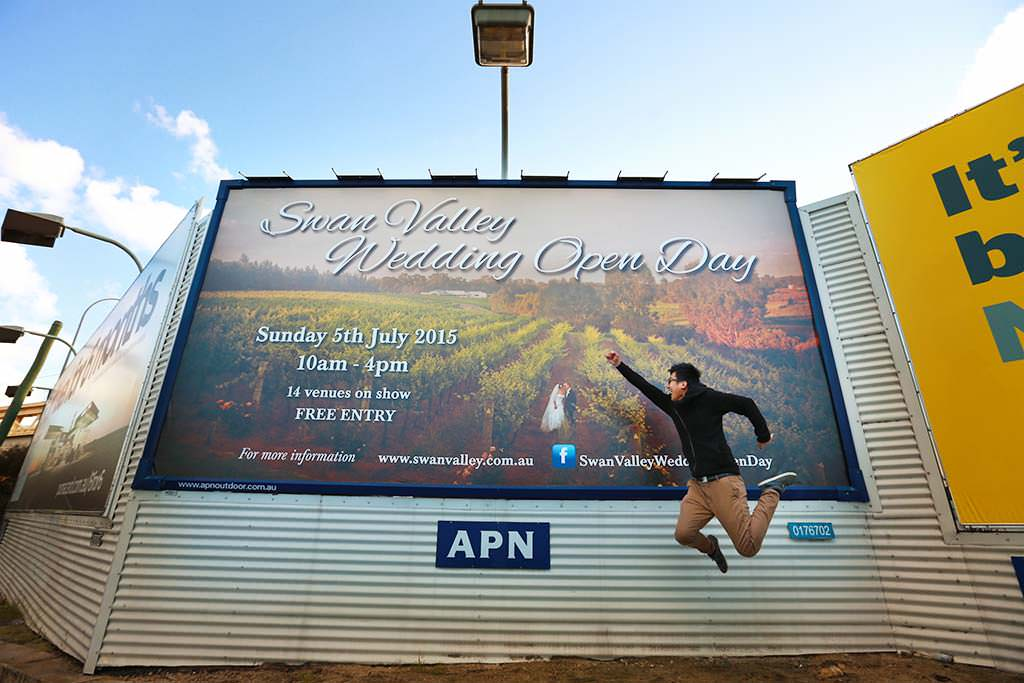 Billboard for Swan Valley Wedding Open Day