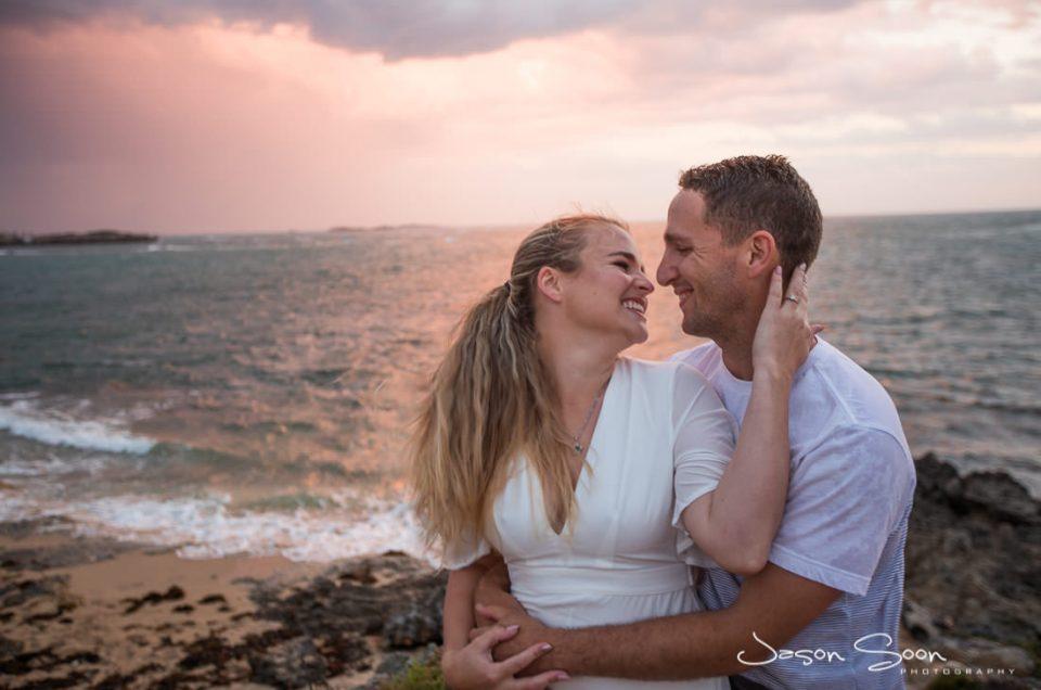 A Stormy Beach Day: Meaghan and Jake's Pre-Wedding Shoot